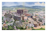 The Acropolis in Athens in Ancient Greece, 1914 Giclee Print by G. Rehlender