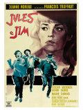 Jules and Jim, Italian Movie Poster, 1961 Giclée-Premiumdruck