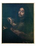 Self Portrait, C.1642 Giclée-tryk af Salvator Rosa