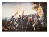 The Landing of Columbus in America in 1492 Giclée-Druck von John Vanderlyn