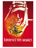 Lawrence of Arabia, German Movie Poster, 1963 Kunstdrucke
