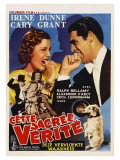 The Awful Truth, Belgian Movie Poster, 1937 Art