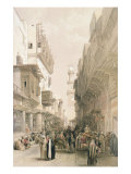 """Mosque El Mooristan, Cairo, from """"Egypt and Nubia"""", Vol.3 Giclee Print by David Roberts"""