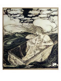 Danae and her son Perseus, 1903 Gicléetryck av Arthur Rackham