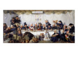 The Wedding Feast of Corentin Le Guerveur and Anne-Marie Kerinvel, 1880 Giclee Print by Victor Marie Roussin