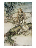Undine, Illustration from the book by Baron Friedrich de la Motte Fouque Gicléetryck av Arthur Rackham