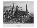 The Siege of Zaragoza in June 1808, Engraved by Augustin Burdet Giclee Print by Denis-auguste-marie Raffet