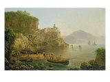 View Towards Atrani on the Amalfi, 1817 Giclee Print by Joseph Rebell