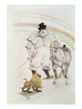 At the Circus: Performing Horse and Monkey, 1899 Lámina giclée por Henri de Toulouse-Lautrec