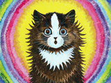 Cat in a Rainbow Reproduction procédé giclée par Louis Wain