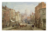 The Household Cavalry in Peascod Street, Windsor Giclee Print by Louise J. Rayner