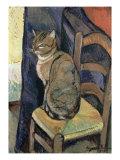 Study of a Cat, 1918 Reproduction procédé giclée par Suzanne Valadon