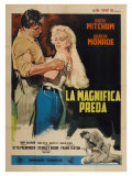 River of No Return, Italian Movie Poster, 1954 Pôsteres