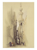 """The Minaret of the Mosque of El Rhamree, Cairo, from """"Egypt and Nubia"""", Vol.3 Giclee Print by David Roberts"""