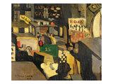 Barcelona street scene, 1917 Giclee-trykk av Joaquin Torres-garcia