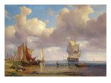Calm Sea, 1836 Giclée-Druck von Adolf Vollmer