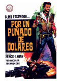 A Fistful of Dollars, Spanish Movie Poster, 1964 Pôsters