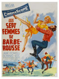 Seven Brides for Seven Brothers, French Movie Poster, 1954 ポスター