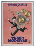 Modern Times, Italian Movie Poster, 1936 Kunst