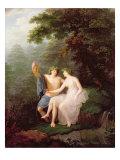 Bacchus and Ariadne Giclée-Druck von Jacques Antoine Vallin