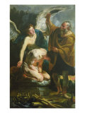 The Sacrifice of Isaac Giclee-trykk av Jacob Jordaens