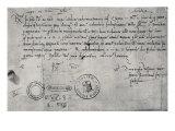 Letter Written in Seville to the Ducal Commissioner in Genoa, 30th December 1492 Giclée-Druck von Amerigo Vespucci
