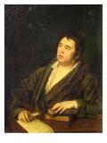 Portrait of the Poet Ivan A. Krylov, 1812 Giclée-Druck von Roman Maximovich Volkov