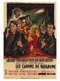 The Guns of Navarone, French Movie Poster, 1961 Kunst