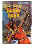 The Adventures of Robin Hood, German Movie Poster, 1938 Pôsteres
