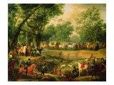 Napoleon on a Hunt in the Compiegne Forest, 1811 Giclée-Druck von Antoine Charles Horace Vernet