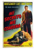 I Confess, Argentine Movie Poster, 1953 Print