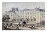 Boulevard Montmartre, Passage Jouffroy and Grand Hotel de la Terrasse Jouffroy, 1865 Giclee Print by Charles Riviere