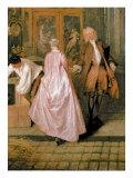 L'Enseigne De Gersaint, 1720 Giclée-tryk af Jean Antoine Watteau