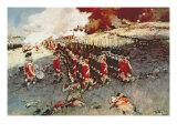 Battle of Bunker Hill, 17 June 1775 Gicléedruk van Howard Pyle