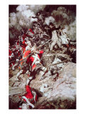 They Scrambled Up the Parapet and Went over the Top, Pell Mell, Upon the British, C.1897 Gicléedruk van Howard Pyle