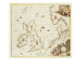Map of the North Sea, c.1675 Reproduction procédé giclée par Frederick de Wit