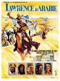 Lawrence of Arabia, French Movie Poster, 1963 Kunstdruck