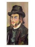 Portrait of Erik Satie Giclee Print by Suzanne Valadon