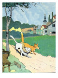 Illustration from 'Le Roman de Renard', c.1900 Giclee Print by Benjamin Rabier