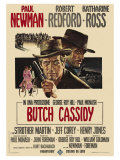 Butch Cassidy and the Sundance Kid, Italian Movie Poster, 1969 Plakater