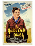 400 Blows, French Movie Poster, 1959 Kunstdrucke