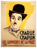 City Lights, French Movie Poster, 1931 Premium gicléedruk