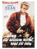 Rebel Without a Cause, German Movie Poster, 1955 Prints