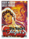 The Night of the Hunter, German Movie Poster, 1955 Plakater