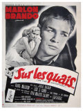 On the Waterfront, French Movie Poster, 1954 Giclée-Premiumdruck