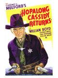 Hopalong Cassidy Returns, 1936 Premium Giclee-trykk