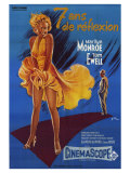 The Seven Year Itch, French Movie Poster, 1955 Plakater