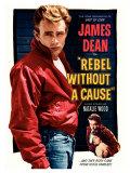 La Fureur de vivre - Rebel Without a Cause : affiche américaine du film de Nicholas Ray avec James Dean, 1955 Affiches
