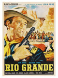 Rio Grande, Mexican Movie Poster, 1950 Art