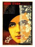 Russe (visage de femme/cartes) Posters
